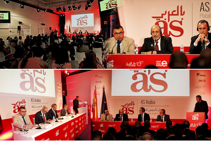 Agencia de Eventos en Madrid- Presentación Plataforma Digital en Árabe - AS Arabia