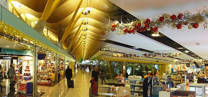 Decoración Navideña Aeropuerto de Madrid