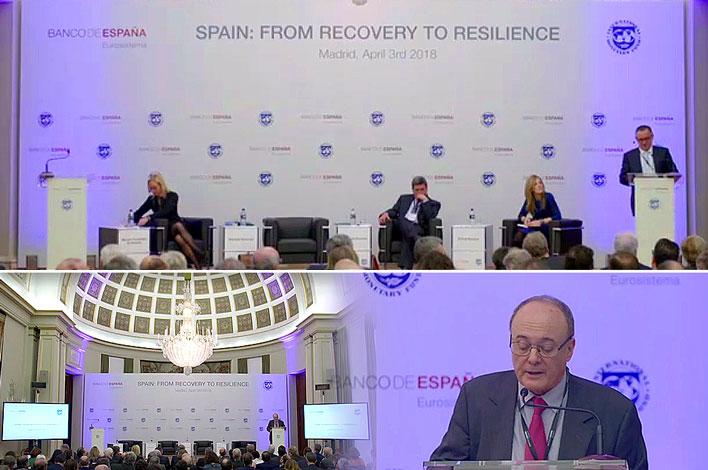 Conferencia Banco de España y Fondo Monetario Internacional - Agencia de Eventos GRUPO INK