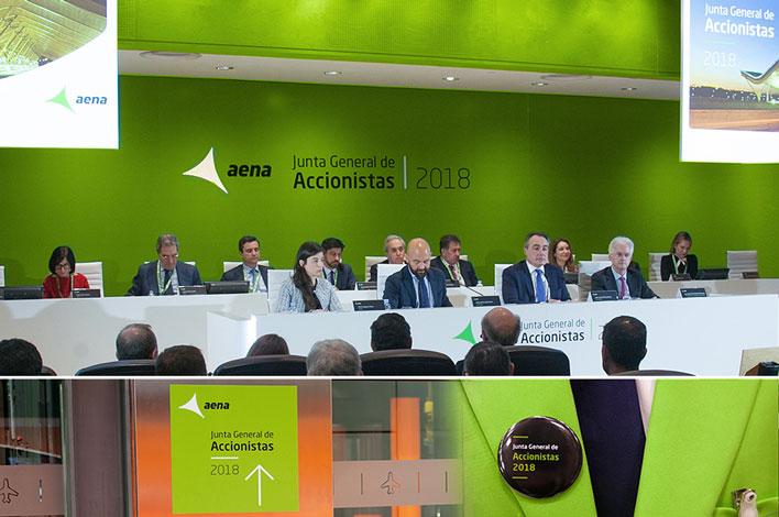 Junta General de Accionistas Aena - Agencia de Eventos GRUPO INK