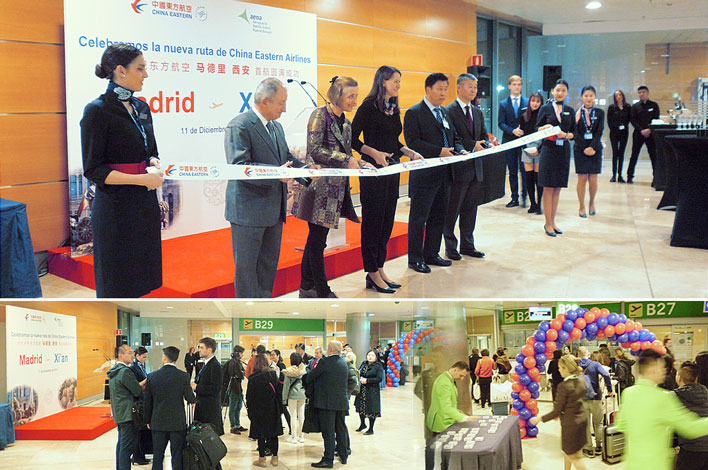 Inauguración ruta aerolí­nea China Eastern Airlines - Madrid-Xi'an - Agencia de Eventos GRUPO INK